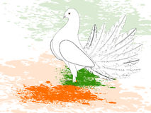 A republic day card with draw a flag. Stock Photography