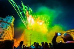 Republic Day celebration in the city of Genoa stock image