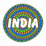 Republic Day celebration with National Flag colours. Happy Republic Day celebration with stylish text India on National Flag colours, floral design decorated stock illustration