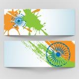 Republic Day celebration Web header or banner set. Royalty Free Stock Images