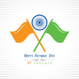 Republic Day greeting with indian flag Stock Photo