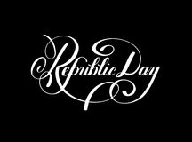 Republic Day handwritten ink lettering inscription. For indian winter holiday 26 January, calligraphy vector illustration Stock Photography