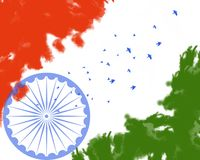 Republic Day Independence Day Indian Tricolor Theme Background vector illustration