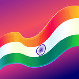 Republic Day in India. 26 January. Vector design element, background with Indian national flag Stock Photo