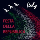 Republic Day in Italy design concept vector illustration