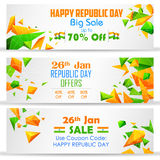 Republic Day sale banner Royalty Free Stock Photography