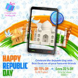 Republic Day sale banner Royalty Free Stock Image