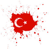 Republic day in Turkey concept background. Watercolor flag with moon and star. Royalty Free Stock Images