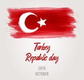 The Republic Day of Turkey holiday background Stock Photos