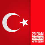 Republic Day Turkey. Royalty Free Stock Photos