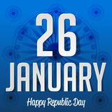 Republic Day. Vector illustration of a beautiful background for Republic day Stock Images