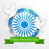 Republic Day. Vector illustration of a beautiful background for Republic day Stock Photo