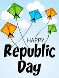 Republic Day. Vector illustration of a beautiful background for Republic day Royalty Free Stock Photos