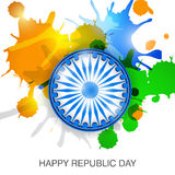 Republic Day. Vector illustration of a beautiful background for Republic day Stock Photography