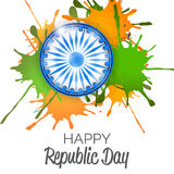 Republic Day. Vector illustration of a beautiful background for Republic day Royalty Free Stock Photography