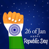 Republic Day. Vector illustration of a beautiful background for Republic day Royalty Free Stock Photo