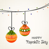 Republic Day. Vector illustration of a beautiful background for Republic day Royalty Free Stock Image