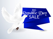 Republic Day. Vector illustration of a beautiful sale background  for Republic day Stock Photography