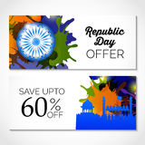 Republic Day. Vector illustration of a beautiful sale background  for Republic day Royalty Free Stock Photography