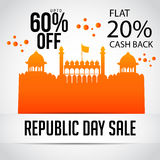 Republic Day. Vector illustration of a beautiful sale background  for Republic day Stock Photo