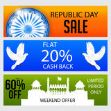 Republic Day. Vector illustration of a beautiful sale background  for Republic day Stock Images