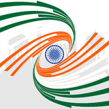 Republic Day with wave in Indian flag. Royalty Free Stock Image