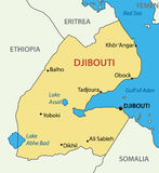 Republic of Djibouti -  vector map - illustration Royalty Free Stock Image