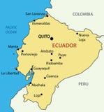 Republic of Ecuador - map - vector Royalty Free Stock Photos
