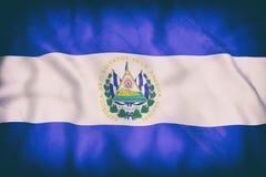 Republic of El Salvador flag waving Royalty Free Stock Photos