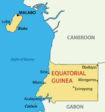Republic of Equatorial Guinea - vector map Royalty Free Stock Photography
