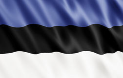 Republic of Estonia Flag Stock Photo