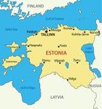 Republic of Estonia - vector map Royalty Free Stock Image