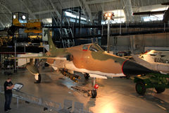 Republic F-105 Thunderchief / National Air and Spa Royalty Free Stock Photography