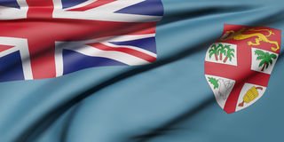 Republic of Fiji flag Royalty Free Stock Photography