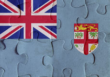 Republic of Fiji flag puzzle Royalty Free Stock Images