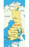 Republic of Finland - vector map Royalty Free Stock Photography