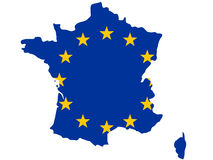 Republic of France map Stock Photography