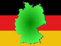 Republic of Germany map Stock Image