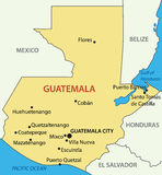 Republic of Guatemala - map - vector Royalty Free Stock Photography