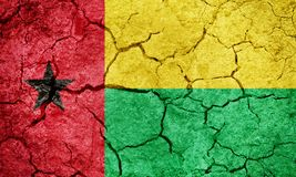 Republic of Guinea-Bissau flag Stock Photography