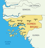 Republic of Guinea-Bissau - vector map Royalty Free Stock Photos
