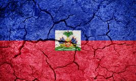Republic of Haiti flag Royalty Free Stock Image