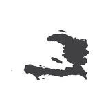 Republic of Haiti map silhouette Stock Photography