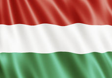 Republic of Hungary Flag Royalty Free Stock Photography