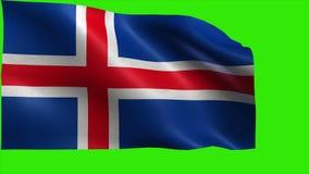 Republic of Iceland, Flag of Iceland - LOOP Stock Photo