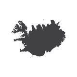 Republic of Iceland map silhouette Royalty Free Stock Photography