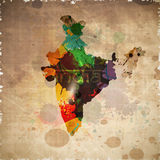 Republic of India map Royalty Free Stock Images