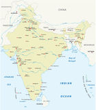Republic of India vector map Royalty Free Stock Images