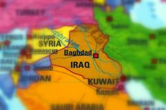 Republic of Iraq. Iraq, officially known as the Republic of Iraq selective focus Royalty Free Stock Photos