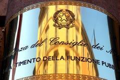 Republic of Italy Plaque Royalty Free Stock Photos
